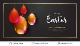 Easter background template. Stock Photo