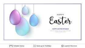 Easter background template. Royalty Free Stock Photography