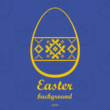 Easter background with text Royalty Free Stock Photos