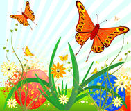 Easter background vector design Royalty Free Stock Image