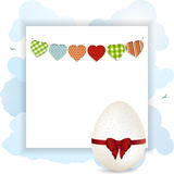 Easter panel with white eggs Stock Photos