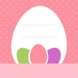 Pink dotted easter. Easter background for your text in pastel colors. Vector Stock Photo