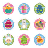 Easter badges Stock Photography