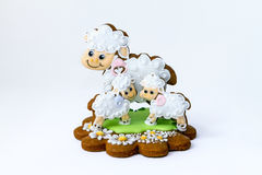 Easter baked gingerbread decoration-sheep Royalty Free Stock Photo