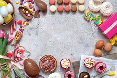 Easter bakery food background Royalty Free Stock Photos