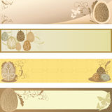 Easter banner. A  illustration of collection of Easter banners Royalty Free Stock Photography