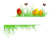 Easter banner Stock Photography