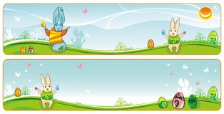 Easter banner. Easter spring banner set with space for your logo and text Stock Photo