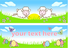 Easter Banner. Set of two Easter or Spring themed banners.  Room for text or copy Royalty Free Stock Photography