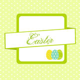Easter banner background with eggs Stock Photo