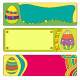 Easter banner or buttons with colorful eggs Stock Photo