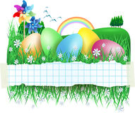 Easter banner with Easter eggs Royalty Free Stock Photo