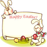 Easter banner. Happy easter banner. easter  bunny and eggs. vector background Stock Image