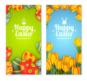 Easter banner set Royalty Free Stock Photos