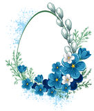 Easter banner with spring flowers Royalty Free Stock Images