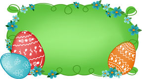 Easter banner with text field Stock Photos