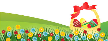 Easter banner vector Stock Photo