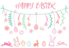 Easter banner, vector set Royalty Free Stock Photos