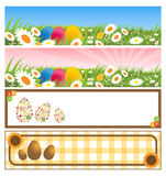 Easter banners. Illustration of four easter banners isolated on white background.EPS file available
