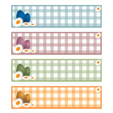 Easter banners. Illustration of four easter banners isolated on white background.EPS file available Stock Image