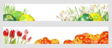 Easter banners. With room for your text royalty free stock photography