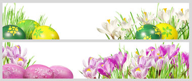Easter banners. With room for your text royalty free stock photo