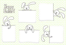 Easter banners. Collection of blank banners with bunnies for Easter Royalty Free Stock Photo