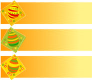 Easter banners. Vector illustration of Easter banners with eggs Royalty Free Stock Photography