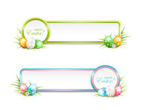 Easter banners with eggs Royalty Free Stock Image
