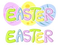 Easter Banners or Logos With Eggs Royalty Free Stock Images
