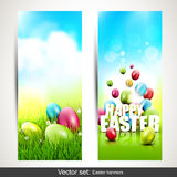 Easter banners Stock Photos