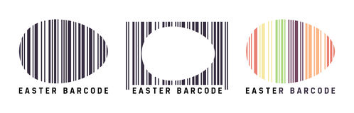 Easter barcode stock photos