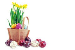 Easter basket 1 Royalty Free Stock Photos