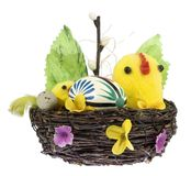 Easter basket. Easter table decoration stock image