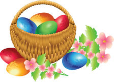 Easter basket Stock Photos