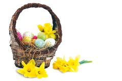 Easter basket 2 Royalty Free Stock Photos