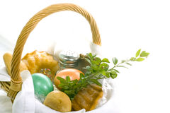 Easter basket. Easter is one of the most important Catholic holidays of the year Royalty Free Stock Photo