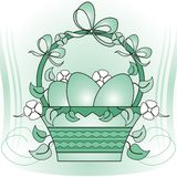 Easter basket Royalty Free Stock Image