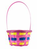 Easter Basket. Isolated on a white background Stock Photo