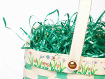 Easter basket. With grass Stock Photography