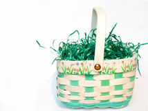Easter Basket. Filled with grass Royalty Free Stock Photography