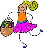 Easter basket stock illustration