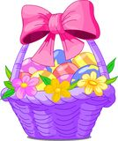 Easter Basket. Beautiful Easter basket with eggs Royalty Free Stock Photo