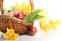 Easter basket Royalty Free Stock Photography