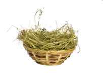 Easter basket. Isolated on a white Stock Images