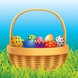 Easter basket royalty free illustration