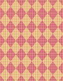 Easter basket argyle weave. Argyle diamond pattern with a pastel weave overlay Royalty Free Stock Photo