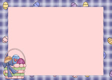 Easter Basket Background. This is designed with a plaid easter egg background and a charming easter basket. This is perfectly designed for your printing vector illustration