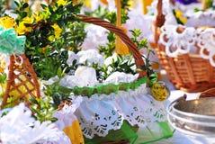 Easter basket Stock Image