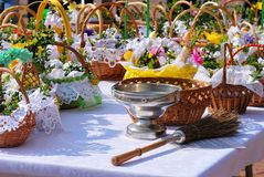 Easter basket Royalty Free Stock Images